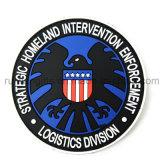 Custom3d el logotipo de goma PVC Parche con Velcro para etiquetas de prendas de vestir