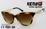 Солнечные очки способа глаза кота с виском высеканным картиной Kp70264 металла