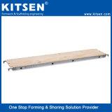 Tablón de madera contrachapada de andamio de aluminio con cubierta de paseo (placa)