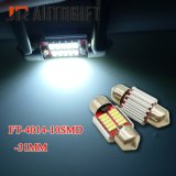 넓은 전압 12-24V 차 LED 빛 FT C5w 4014 10LED Canbus