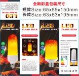 bulbo do efeito de cintilação do incêndio da luz da flama da simulação do diodo emissor de luz da temperatura de cor 1800K