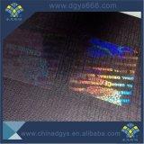 Malote transparente do holograma para o cartão da identificação