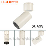 3 an de garantie LED montées en surface la lumière de piste 30W à intensité réglable