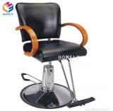 Silla de barbero Hly Pesado Acento de color blanco con silla de salón