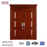 Modèle en bois intérieur solide de peinture de porte de panneau de porte pour le projet