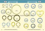Anel de moda Gold anel metálico para Bag