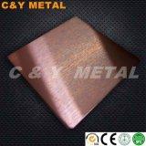 201/304/316 di raso decorativo dello strato no. 4 dell'acciaio inossidabile con i colori del rivestimento del caffè