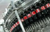 Sellado y llenado de botellas Evian empaquetadora