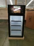 Mini congelador vertical Desktop de Gelato do congelador do indicador com a porta do vidro de 3 camadas