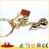 Beste Verkaufs-Metallzink-Legierung mit Vergoldung-Schlüssel-Halter und Schlüsselkette