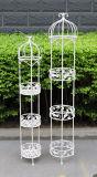 高品質の庭の金属3層プランター立場