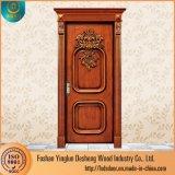 ホームデザインのためのDeshengの現代デザイン固体チークの木製のドア