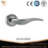 Het uitstekende Gevormde Handvat van de Deur van het Aluminium Binnenlandse Houten op Rozet (AL026-ZR05)