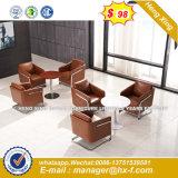 Las patas de madera maciza superior moderna oficina sofá de cuero de vaca (HX-S135)