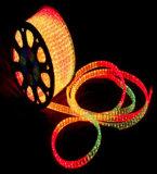 Indicatore luminoso della corda del PVC LED di colore completo delle decorazioni di natale