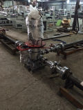 Maquinaria que sopla de la película del PE de tres capas (ESTIRADOR del HDPE del LDPE LLDPE)