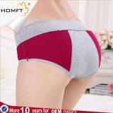 Culottes sanitaires physiologiques de menstruation d'Anti-Fuite de dossiers de modèle de sous-vêtements menstruels de fantaisie de coton