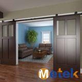 Precio de desplazamiento de madera de la puerta doble buen