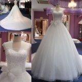 Длинные поезда валика клея лук шарик свадебные платья устраивающих платье