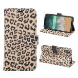 Leopard-Druck PU-Leder-Kippen-Deckel für iPhone 8 Standplatz-Fall