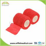 Fasciatura coesiva elastica non tessuta medica impermeabile colorata