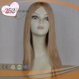 Blonde brasilianische Haar-Haut-Oberseite-Frauen-Perücke (PPG-l-0941)