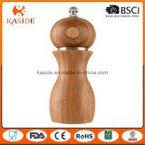 Tipo de cerámica amoladora y coctelera de bambú del molino de la especia
