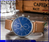 Reloj clásico de encargo del cuarzo de la correa de cuero de las señoras de la manera (WY-P17013B)