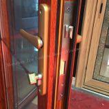 Marco termal de aluminio de la doble vidriera de la rotura/puerta francesa con la pantalla del insecto
