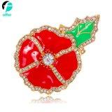 Recuerdo Broche rojo amapola Pin distintivo Crystal banquetes