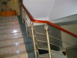 Conservar a escadaria moderna reta usada espaço/escada do aço inoxidável