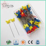 54mmの縫うことのためのプラスチック蝶ヘッド鋼鉄まっすぐなピン