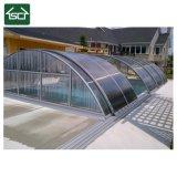 Cerco de alumínio da piscina do policarbonato quente da isolação da venda 2017