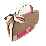 Bolsa proeminente das senhoras da decoração da fita da forma do saco de ombro do plutônio da cor do contraste do Workmanship LC-005 na venda por atacado