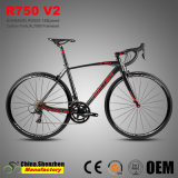 700c Liga de Alumínio Al7005 Bicicletas de corrida de estrada com Garfo de carbono