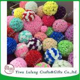 Les billes de mariage de soie rose Type de sol pendaison fleur artificielle rose Ball