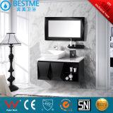 ホテルデザイン黒カラー純木の浴室用キャビネットによるX7032
