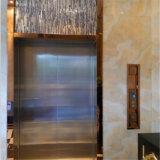 Fini de délié coloré par argent de couverture de porte d'acier inoxydable de bâti d'ascenseur