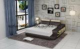 Мебель самомоднейшей кровати кожи мебели спальни самомоднейшая домашняя