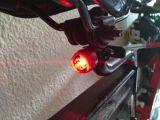 Shell van het aluminium Licht van de Staart van de Fiets van de Macht van de Batterij van de Knoop het Robijnrode