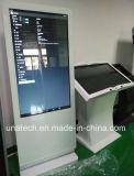 Señalización al aire libre de interior de la pantalla táctil del restaurante que hace publicidad del quiosco que coloca la visualización del LCD