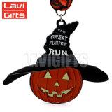 Comercio al por mayor calidad de la medalla de calabaza de Halloween Hallowmas personalizado