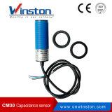 Plástico Cm30 NPN del ABS ningún sensor de proximidad de la capacitancia con Ce