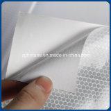 Zoll druckt im Freienbekanntmachenreflektierender Bienenwabe-Aufkleber-materielles silbernes Weiß