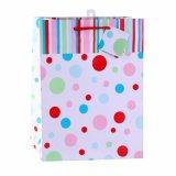 Colorer le sac de papier de cadeau de jouet de chaussures de vêtement de configuration de POINT de polka