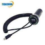 24W 5V4.8A автомобильного зарядного устройства USB с микро-удлинительный кабель USB