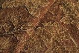 Brown 2016 lascia il tessuto della mobilia del jacquard da 330GSM