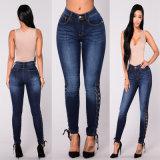 Disegno scarno della parte superiore dei jeans delle signore del Jean delle donne dello Spandex del cotone