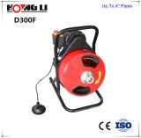 """Machine à tambour de nettoyage de drain pour canalisations 1 1/4 """" - 4 """" de vidange (D300F)"""
