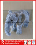 Jouet animal de l'Afrique de peluche de zèbre mignon mou d'éléphant de rhinocéros
